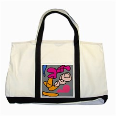 Colorful Abstract Design By Moma Two Tone Tote Bag by Valentinaart
