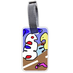 Abstract Comic Luggage Tags (one Side)  by Valentinaart