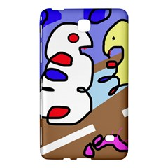 Abstract Comic Samsung Galaxy Tab 4 (7 ) Hardshell Case  by Valentinaart