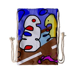 Abstract Comic Drawstring Bag (small) by Valentinaart