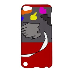 Red Abstraction By Moma Apple Ipod Touch 5 Hardshell Case by Valentinaart