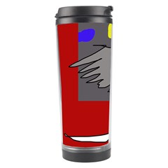 Red Abstraction By Moma Travel Tumbler by Valentinaart