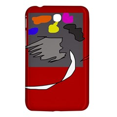 Red Abstraction By Moma Samsung Galaxy Tab 3 (7 ) P3200 Hardshell Case  by Valentinaart