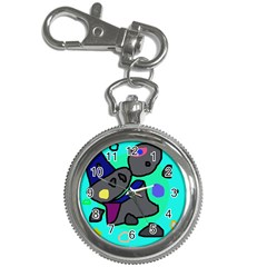 Blue Comic Abstract Key Chain Watches by Valentinaart