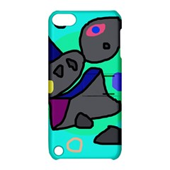Blue Comic Abstract Apple Ipod Touch 5 Hardshell Case With Stand by Valentinaart
