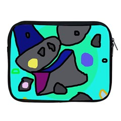 Blue Comic Abstract Apple Ipad 2/3/4 Zipper Cases by Valentinaart