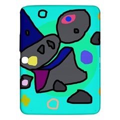 Blue Comic Abstract Samsung Galaxy Tab 3 (10 1 ) P5200 Hardshell Case  by Valentinaart
