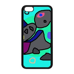 Blue Comic Abstract Apple Iphone 5c Seamless Case (black) by Valentinaart