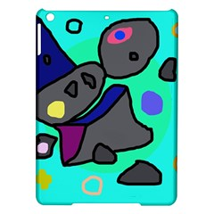 Blue Comic Abstract Ipad Air Hardshell Cases by Valentinaart