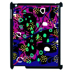Abstract Colorful Chaos Apple Ipad 2 Case (black) by Valentinaart