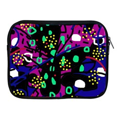 Abstract Colorful Chaos Apple Ipad 2/3/4 Zipper Cases by Valentinaart
