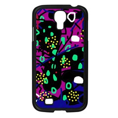 Abstract Colorful Chaos Samsung Galaxy S4 I9500/ I9505 Case (black) by Valentinaart