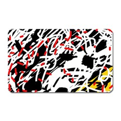 Colorful Chaos By Moma Magnet (rectangular) by Valentinaart