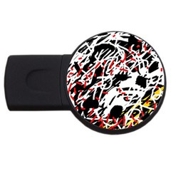 Colorful Chaos By Moma Usb Flash Drive Round (2 Gb)  by Valentinaart