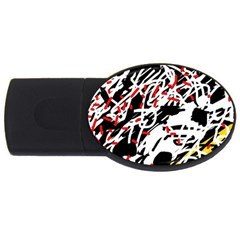 Colorful Chaos By Moma Usb Flash Drive Oval (2 Gb)  by Valentinaart