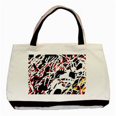 Colorful Chaos By Moma Basic Tote Bag (two Sides) by Valentinaart