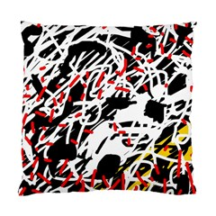 Colorful Chaos By Moma Standard Cushion Case (one Side) by Valentinaart