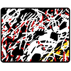 Colorful Chaos By Moma Fleece Blanket (medium)