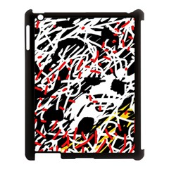 Colorful Chaos By Moma Apple Ipad 3/4 Case (black) by Valentinaart