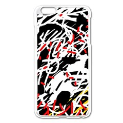 Colorful Chaos By Moma Apple Iphone 6 Plus/6s Plus Enamel White Case by Valentinaart