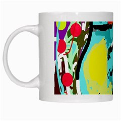 Abstract Animal White Mugs by Valentinaart