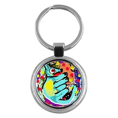 Abstract Animal Key Chains (round)  by Valentinaart