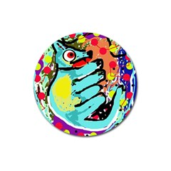 Abstract Animal Magnet 3  (round) by Valentinaart
