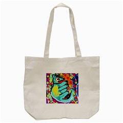 Abstract Animal Tote Bag (cream) by Valentinaart