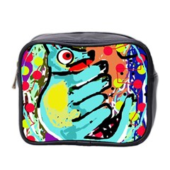 Abstract Animal Mini Toiletries Bag 2 Side by Valentinaart