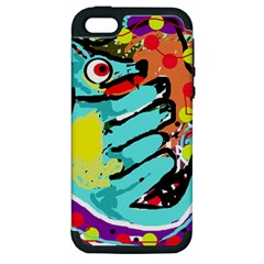 Abstract Animal Apple Iphone 5 Hardshell Case (pc+silicone) by Valentinaart
