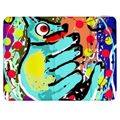 Abstract Animal Samsung Galaxy Tab 7  P1000 Flip Case by Valentinaart