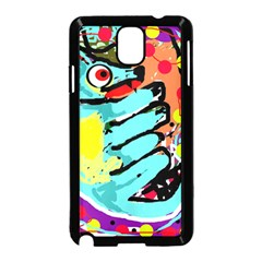 Abstract Animal Samsung Galaxy Note 3 Neo Hardshell Case (black) by Valentinaart