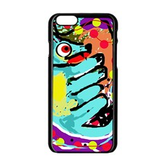 Abstract Animal Apple Iphone 6/6s Black Enamel Case by Valentinaart