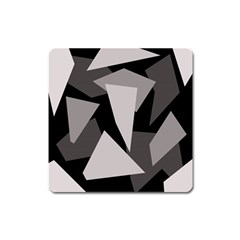 Simple Gray Abstraction Square Magnet by Valentinaart