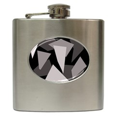 Simple Gray Abstraction Hip Flask (6 Oz) by Valentinaart