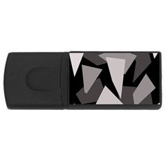 Simple Gray Abstraction Usb Flash Drive Rectangular (4 Gb)  by Valentinaart