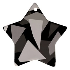 Simple Gray Abstraction Star Ornament (two Sides)  by Valentinaart