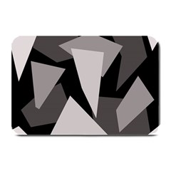 Simple Gray Abstraction Plate Mats by Valentinaart