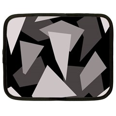 Simple Gray Abstraction Netbook Case (large) by Valentinaart