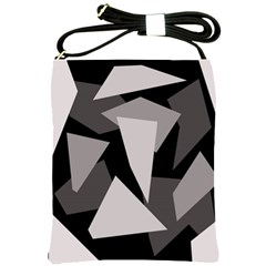 Simple Gray Abstraction Shoulder Sling Bags by Valentinaart