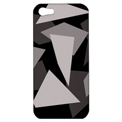 Simple Gray Abstraction Apple Iphone 5 Hardshell Case