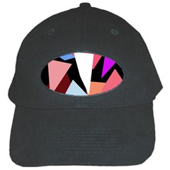 Colorful Geometrical Design Black Cap by Valentinaart