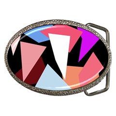 Colorful Geometrical Design Belt Buckles by Valentinaart