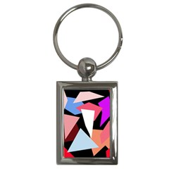 Colorful Geometrical Design Key Chains (rectangle)  by Valentinaart