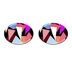 Colorful Geometrical Design Cufflinks (oval) by Valentinaart