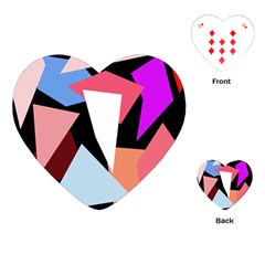 Colorful Geometrical Design Playing Cards (heart)  by Valentinaart