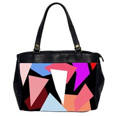 Colorful Geometrical Design Office Handbags (2 Sides)  by Valentinaart