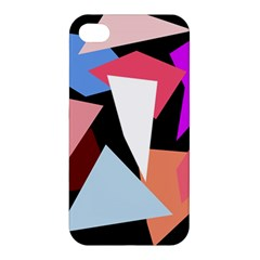 Colorful Geometrical Design Apple Iphone 4/4s Hardshell Case by Valentinaart