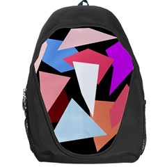 Colorful Geometrical Design Backpack Bag by Valentinaart