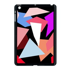 Colorful Geometrical Design Apple Ipad Mini Case (black) by Valentinaart